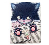 Painting Cat Perfume PU Leather Full Body Case with Stand for iPad Air