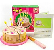 4pcs Birthday Cake Shape Wooden Play House Pretend Play Toys
