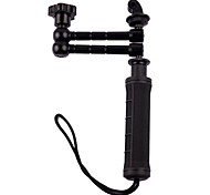 PANNOVO Three-Way Adjustable Handle Rotating Arm Grip For Gopro Hero 2/3/3+