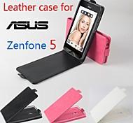 vendita calda cassa di cuoio dell'unità di elaborazione del cuoio di vibrazione 100% per asus zenfone 5 su e giù per smartphone a 3 colori