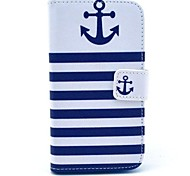 Anchor Pattern PU Full Body Case with Card Slot for Motorola MOTO X