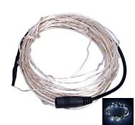 6w 6500k 100-0603 SMD LED lumière blanche chaude bande souple - argenté + noir (12V DC / 1000 cm)