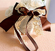 Fashion Double Ribbon Big Bowknot Lace Barrets Random Color