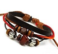 New Beaded Leather Bracelet (Random Color)