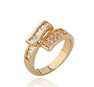 Women New Style Fashion 18K Gold Plated Zircon Rings