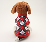 Lovely Cotton Tartan Pattern Clothing for Pet Dogs (Assorted Colors and Size)