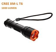 LT-BG KC-01 Adjustable Focus 5-Mode 1×Cree XML-T6 Waterproof LED Flashlight(1800LM, 1 x 18650,Black)