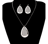 Fashion Drop Water Shape Shinning Jewelry Set(1 Set)