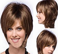 Woman's Short Brown Straight Synthetic Mix Wigs