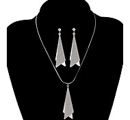 Fashion Double Triangle Shape Jewelry Set(1 Set)
