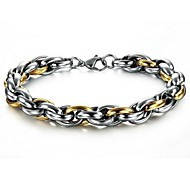 Z&X®  Men's Fashion And Personality Simple Titanium Steel Chain Bracelet
