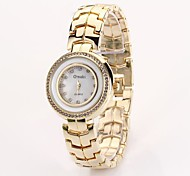 Women's Ronnd Diamond Dial Stainless Brand Quartz Analog Fashion Watch Assorted Color C&D-98