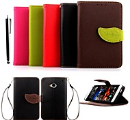 KARZEA™ Leaf Mixed Colors TPU Leather Full Body With Stand and Stylus for HTC One(M7) (Assorted Colors)