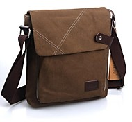 Men's Outdoors Fashional Brown Leisure Canvas Single-Inclined-Shoulder Bags