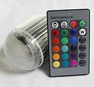 RGB света светодиодная лампа лампы - серебро (номинальное напряжение) AC85-265V 700LM 9w E27