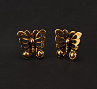 Fashion Bronze Butterfly Shape Stud Earring(1 Pair)
