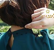 2pcs pequeños de oro pegatinas brillo tatuaje de la estrella tatuajes temporales