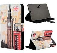 Londres Big padrão ben aleta universal caso estande de couro para todos os PC tablet de 7 polegadas com botão de inversão magnética