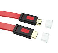5m HDMI v1.4 16.4ft Stecker auf v1.4 männlich Flach lila Kabel für 3D-TV-Computer-DVD versandkostenfrei hdmi