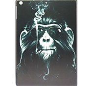 Smoking Monkey Pattern Hard Plastic Case for iPad Air