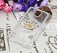 For Samsung Galaxy Case Rhinestone / Pattern Case Back Cover Case 3D Cartoon PC Samsung S5