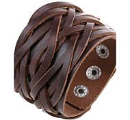 negro, marrón 20cm de los hombres europeos, blanco pulsera de cuero de cuero (negro, marrón, blanco) (1 pc)