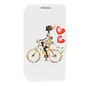 Kinston Bike Girl Pattern PU Leather Cover for iPhone 6