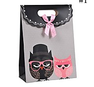 Coway 16.5*12.5*6 The Owl Cartoon Paper Bags  Gift Bag(Random Color)