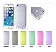 TPU Candy Color Protective Soft Case for iPhone 6/6S(Assorted Colors)