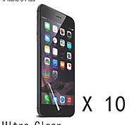 protector de pantalla transparente de alta calidad para el iphone 6s / 6 más (10 piezas)