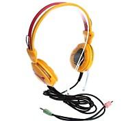 Auriculares estéreo de 3,5 mm jack con micrófono y control de volumen (220cm)