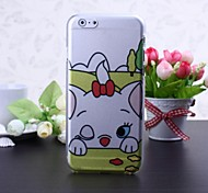 Cute Cat Pattern Transparent Plastic Hard Case for iPhone 6
