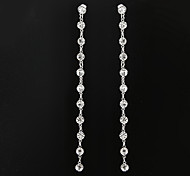 Fashion 11cm Diamanted Gem Drop Earring(1 Pair)