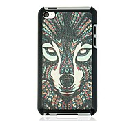 The wolf Leather Vein Pattern Hard Case for iPod touch 4