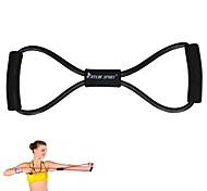 schwarze Widerstand Band Rohr Fitness Muskeltraining Übungsyoga Schnur elastische 8 Typ