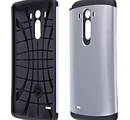 Simple Protective PC and Silicone Back Case for LG G3 (Assorted Colors)