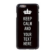 "Personalized Case Black Keep Calm Design Metal Case for iPhone 6 (4.7"")"
