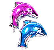 2 piezas de bienvenida al bebé de la membrana de aluminio playa del mar de delfines océano cumpleaños no.3 globo del partido