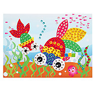 EVA Mosaic Crystal 3D Stickers Children Hand DIY Puzzle Goldfish Toy
