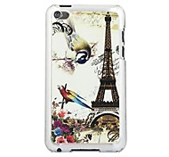 The Bird Tower Leather Vein Pattern PC Hard Case for iPod touch 4