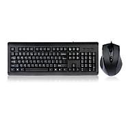 shuangfeiyan jogos escritório impermeável teclado com fio kb-n9100 e kit do mouse 1600 dpi