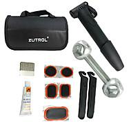 ZUTROL Multi-Functional Bike Tire Repair Kit Including Tyre Lever And Mini Pump