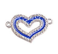 Alloy Blue Heart Connectors for Bracelet