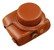 protection sac de couverture de cas de la caméra cuir dengpin® peau d'huile avec bandoulière pour Canon Powershot G1X mark ii G1X m2