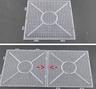 1pcs modello chiaro generale grande pegboard linkabile 15 * 15cm quadrato per perline hama 5 millimetri fusibile perline