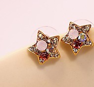 Lureme®Fashion Hollow Out Crystals Star Earring