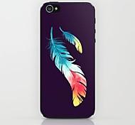 Zwei Federn Muster Hülle für das iPhone 5 / 5s