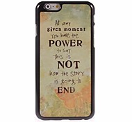 Power Not End Design Aluminum Hard Case for iPhone 6