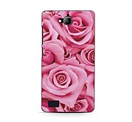 Pink Rose Design Hard Case for HuaWei Honor 3C