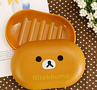 Cute Little Bear Shape Novel Soap Dish (Random Color)